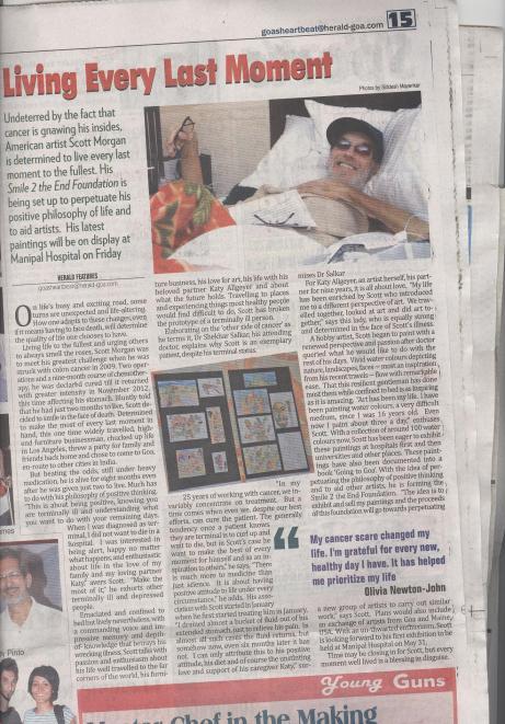 Scott in The Goa Herald