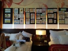Scott's original paintings on display