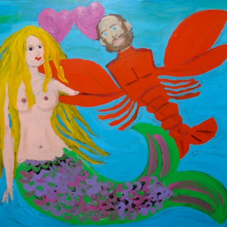 Fishgirl & Lobsterboy window