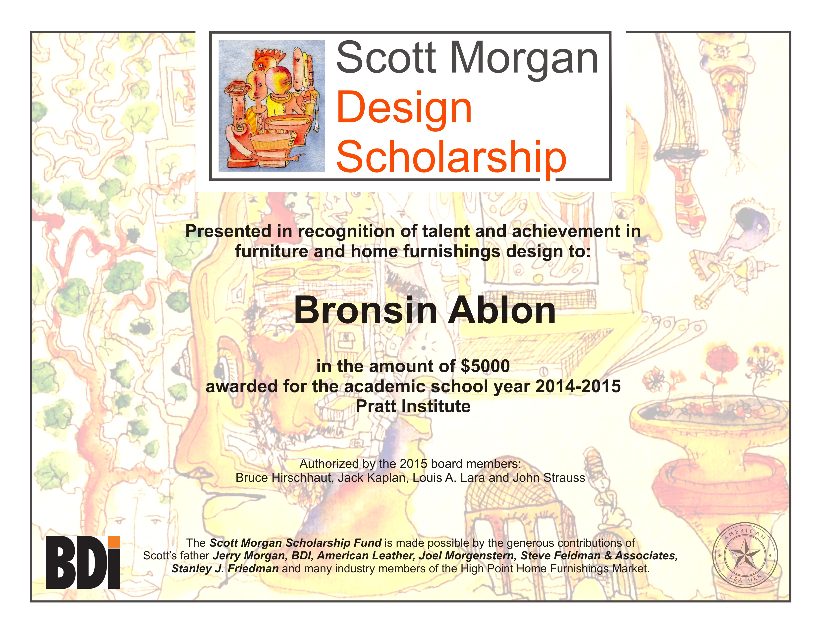First design scholarship awarded in scotts name going to goa xflitez Gallery