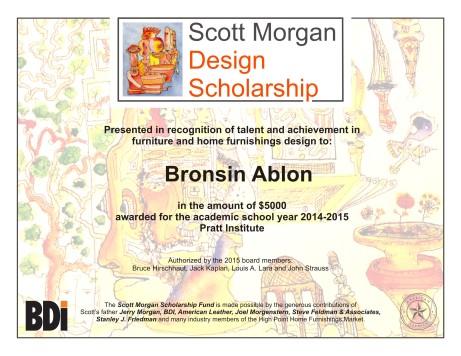 SMSF 2015 Award Certificate Bronsin Ablon - Pratt